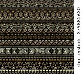 gold aztec geometric print.... | Shutterstock .eps vector #379885630