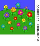 happy flowers | Shutterstock . vector #379888900