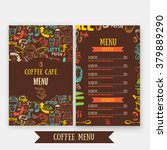 cafe menu template design with... | Shutterstock .eps vector #379889290