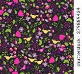 colorful seamless flower...   Shutterstock .eps vector #379889434