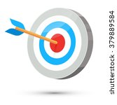 dart arrow hitting center...   Shutterstock .eps vector #379889584