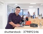 portrait of young businessman... | Shutterstock . vector #379892146