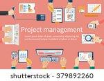 creative team  vector. business ... | Shutterstock .eps vector #379892260