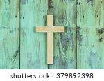 Wood Cross Hanging On Antique...