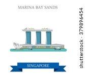 marina bay sands in singapore.... | Shutterstock .eps vector #379896454