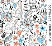 romantic seamless pattern with... | Shutterstock .eps vector #379901500