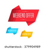 weekend offer tags | Shutterstock .eps vector #379904989