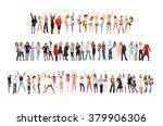 big group winning idea  | Shutterstock . vector #379906306