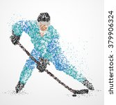 abstraction  hockey  ice  puck | Shutterstock .eps vector #379906324