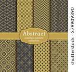 abstract seamless patterns in... | Shutterstock .eps vector #379909390