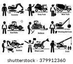 construction vehicles... | Shutterstock .eps vector #379912360