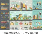 City Life Infographic Set With...