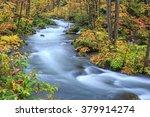 oirase stream in autumn  ... | Shutterstock . vector #379914274