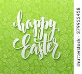 happy easter egg lettering on... | Shutterstock .eps vector #379922458