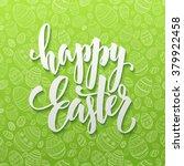 Happy Easter Egg Lettering On...