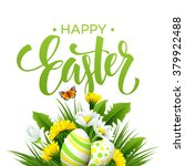 Easter Greeting. Lettering...