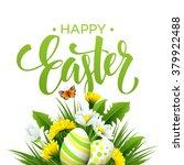 easter greeting. lettering... | Shutterstock .eps vector #379922488