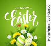 easter greeting. lettering... | Shutterstock .eps vector #379922500