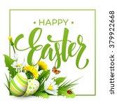 easter greeting. lettering... | Shutterstock .eps vector #379922668