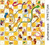 snake ladder chinese new year... | Shutterstock .eps vector #379927144