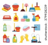 household supplies and cleaning ... | Shutterstock .eps vector #379928239