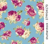 rose illustration pattern | Shutterstock . vector #379934170