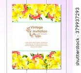 romantic invitation. wedding ...   Shutterstock . vector #379937293