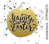 happy easter typographic...   Shutterstock .eps vector #379938274