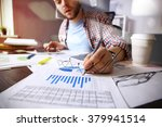 business documents on office... | Shutterstock . vector #379941514