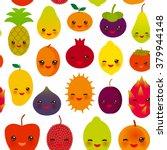 seamless pattern funny kawaii... | Shutterstock .eps vector #379944148