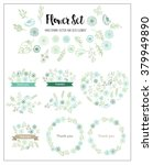 wedding graphic set  flowers ... | Shutterstock .eps vector #379949890