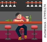 drunk man. vector flat...   Shutterstock .eps vector #379951174