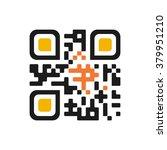 qr code isolated design sample. ... | Shutterstock .eps vector #379951210
