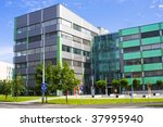 modern office build in bright... | Shutterstock . vector #37995940