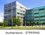 modern office build in bright...   Shutterstock . vector #37995940