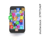 icon app fall in smart phone   Shutterstock . vector #379971469