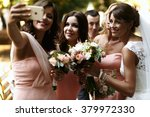 Bride With Bridesmaids On The...