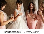 Bride And Bridesmaids On The...