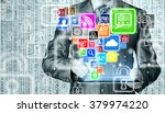 business man using tablet pc... | Shutterstock . vector #379974220