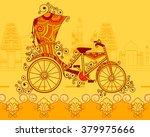 vector design of cycle rickshaw ... | Shutterstock .eps vector #379975666