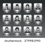 people face set on silver