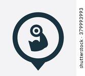 gym icon vector | Shutterstock .eps vector #379993993