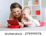 family   mother and baby with... | Shutterstock . vector #379999978
