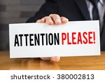attention please  message on... | Shutterstock . vector #380002813
