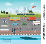 set of transportation and city... | Shutterstock .eps vector #380003668