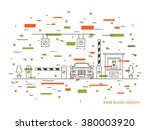road checkpoint station  pay... | Shutterstock .eps vector #380003920
