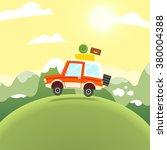 mountain travel illustration.... | Shutterstock .eps vector #380004388