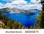 Gorgeous Crater Lake On A...