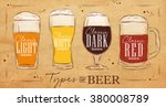 poster beer with four main... | Shutterstock .eps vector #380008789