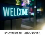 led display   welcome signage | Shutterstock . vector #380010454